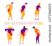 hip osteoarthritis icons in... | Shutterstock .eps vector #1371366023