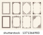 decorative frames collection of ... | Shutterstock . vector #1371366983