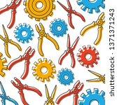 construction tools pattern... | Shutterstock .eps vector #1371371243