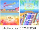 summer mood hot days hello... | Shutterstock . vector #1371374270