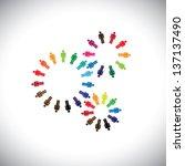 concept of people as cogwheels... | Shutterstock .eps vector #137137490