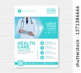 healthcare cover a4 template... | Shutterstock .eps vector #1371386666