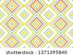 watercolor geometrical pattern... | Shutterstock . vector #1371395840