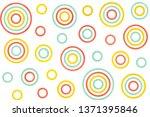 watercolor salmon pink  yellow... | Shutterstock . vector #1371395846