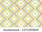 watercolor geometrical pattern... | Shutterstock . vector #1371395849