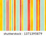 watercolor salmon pink  yellow... | Shutterstock . vector #1371395879