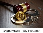 Bitcoin  Gavel And Handcuffs On ...