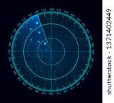 blue radar screen. military... | Shutterstock . vector #1371402449