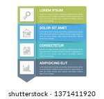infographic template with 4... | Shutterstock .eps vector #1371411920