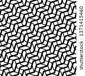 grid  mesh with wavy  criss... | Shutterstock .eps vector #1371415460