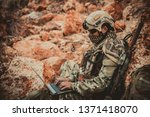 soldiers of special forces on...   Shutterstock . vector #1371418070