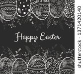 easter greeting card with... | Shutterstock .eps vector #1371420140