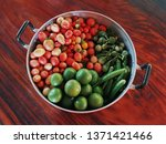 A Basket With Different Fresh...