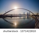panorama of the city early in... | Shutterstock . vector #1371422810