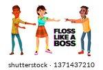 floss like boss vector web... | Shutterstock .eps vector #1371437210