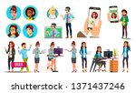 dispatchers  client support... | Shutterstock .eps vector #1371437246