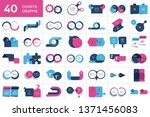 big set of chart  two elements... | Shutterstock .eps vector #1371456083
