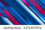 vector of usa color backgrounds ... | Shutterstock .eps vector #1371457076