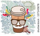 Cute Cartoon Doodle Coffee Cup...