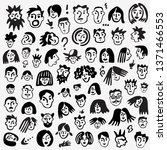 faces of people   icon set   Shutterstock .eps vector #1371466553