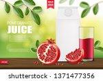 pomegranate realistic ... | Shutterstock .eps vector #1371477356