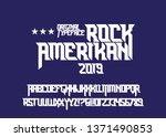 gothic font  original letters... | Shutterstock .eps vector #1371490853