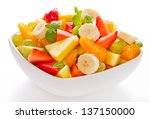 Mixed Fruit Salad In The Bowl...