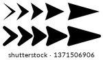 vector set of black arrows to... | Shutterstock .eps vector #1371506906