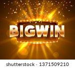 big win casino banner text on... | Shutterstock .eps vector #1371509210