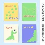 hello dino print card for... | Shutterstock .eps vector #1371509750