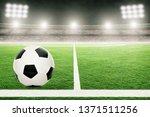 soccer on football stadium...   Shutterstock . vector #1371511256