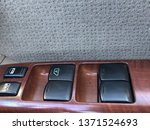 mahogany control panel with... | Shutterstock . vector #1371524693