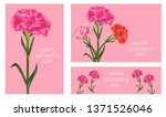 set of templates for mother's... | Shutterstock .eps vector #1371526046