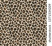 leopard print. vector seamless... | Shutterstock .eps vector #1371534209