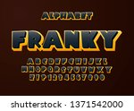 bright comic 3d font and...   Shutterstock .eps vector #1371542000