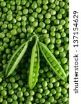 green peas  background   green... | Shutterstock . vector #137154629