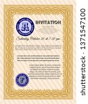 orange vintage invitation... | Shutterstock .eps vector #1371547100