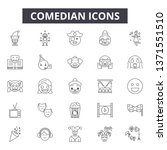comedian line icons  signs set  ... | Shutterstock .eps vector #1371551510