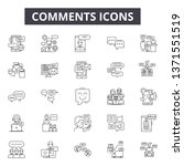 comments line icons  signs set  ... | Shutterstock .eps vector #1371551519