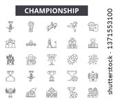 championship line icons  signs... | Shutterstock .eps vector #1371553100