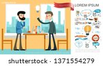 flat business idea concept | Shutterstock .eps vector #1371554279