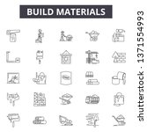 build materials line icons ... | Shutterstock .eps vector #1371554993