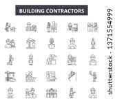 building contractors line icons ... | Shutterstock .eps vector #1371554999