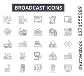 broadcast line icons  signs set ... | Shutterstock .eps vector #1371555389