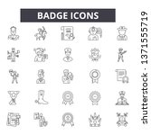 badge line icons  signs set ...   Shutterstock .eps vector #1371555719