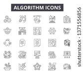 algorithm line icons  signs set ... | Shutterstock .eps vector #1371556856