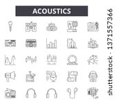 acoustics line icons  signs set ... | Shutterstock .eps vector #1371557366