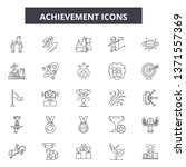 achievement line icons  signs... | Shutterstock .eps vector #1371557369