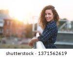 portrait of girl posing to... | Shutterstock . vector #1371562619
