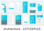 set of ui  ux  gui screens... | Shutterstock .eps vector #1371569123